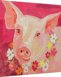 Pinky The Pig Canvas Art by
