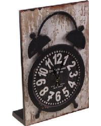 Wood Table Clock Cream by