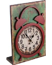 Wood Table Clock Red by