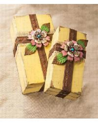Yellow Wood Nesting Boxes Set by