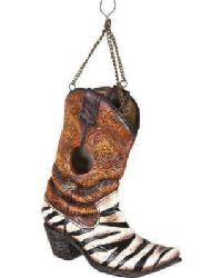 Zebra Cowboy Boot Birdhouse by
