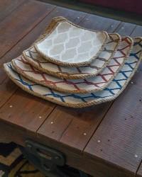 Bay Breeze Wood Jute Tray Set  by