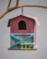 Farm Life Wood Birdhouse by