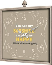 You Are My Sunshine Square Wall Clock  by