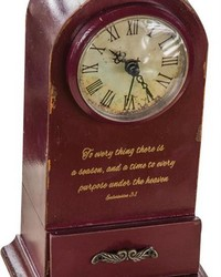 To Everything A Purpose Table Clock by