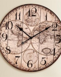 World Map Wall Clock by