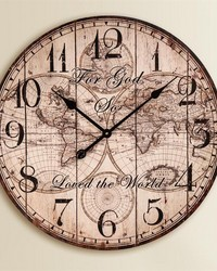 For God So Loved The World Wall Clock  by