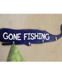 Gone Fishing Whale Wall Hook by