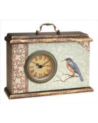 Time Well Spent Blue Bird Clock by