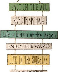 Beach Stacking Sign by
