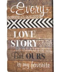 Love Story Wood Sign Set  by