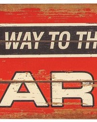 This Way To The Barn Sign Set  by
