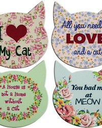 Cat Love Coaster Set  by