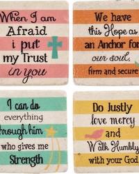 Inspirational Stripe Coaster Set by
