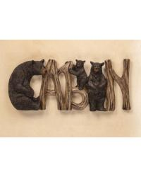 Lodge Black Bear Cabin Sign by