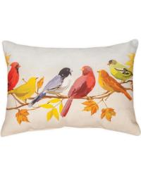 Flocked Together In The Fall Pillow by