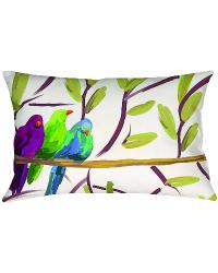 Flocked Together Songbirds Knife Edge Rectangle Pillow by