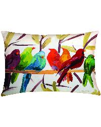 Flocked Together Knife Edge Rectangle Pillow by