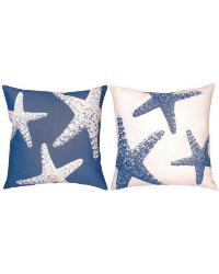Nautical Nonsense Starfish Outdoor Pillow by