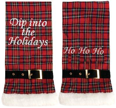 Manual Woodworkers and Weavers  Inc Dip Into the Holidays Hand Towels  Christmas Table Decor