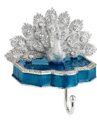White Peacock Stocking Holder by
