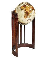 Barrel Chair Floor Globe by