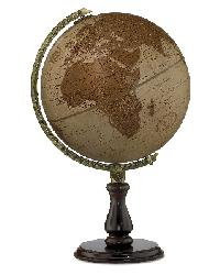 Leather Expedition Table Globe by