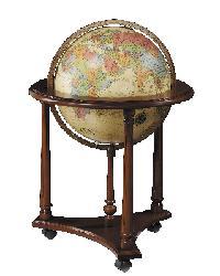 Lafayette Antique Illuminated Floor Globe by