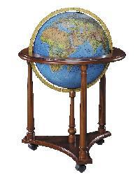 Lafayette Blue Illuminated Floor Globe by