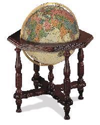 Statesman Antique Illuminated Floor Globe by