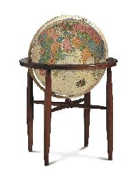 Finley Antique Illuminated Floor Globe by