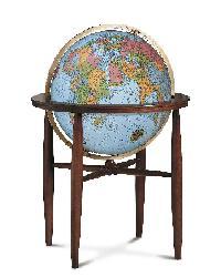 Finley Blue Illuminated Floor Globe by