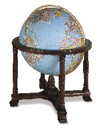 Diplomat Blue Illuminated Floor Globe by