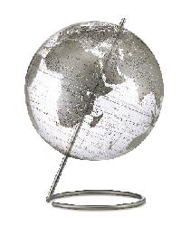 Crystal Marquise Clear Silver Table Globe by