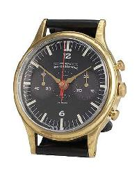 Geneva Brass Wristwatch Table Clock by