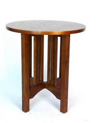 Oak Round Table by