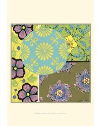 33911D Small Blooming Medallion I by  Gango Editions