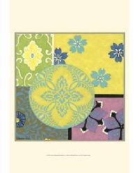 33912D Small Blooming Medallion II by  Gango Editions