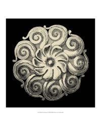 54723Z Black and Tan Rosette I by