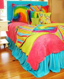 Kid & Teen Bedding - Tie Dye Bedding - Bedding Accessories - Funky Fun ...