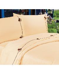 350TC Embroidered Pine Cone Bed Sheet Set  3PC  - Twin by