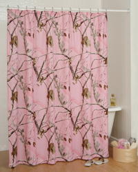 AP Pink Shower Curtain by