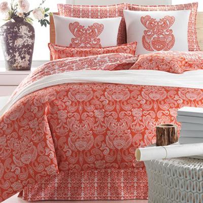 Designer Bedskirts on Boheme Persimmon Bedset Luxury Bedding   Luxury Designer Bedding Sets