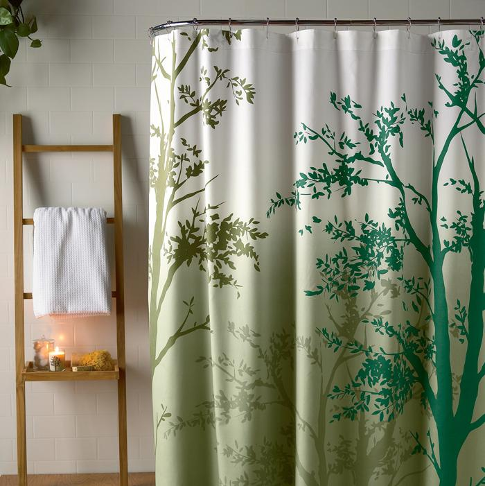Amelie Green Shower Curtain