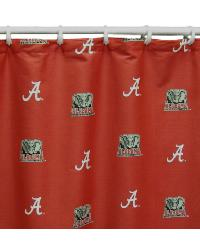 Alabama Crimson Tide Standard Shower Curtain by