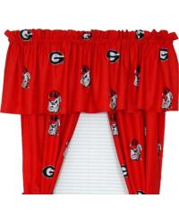 Georgia Bulldogs Curtain Panels by