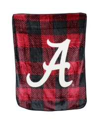 Alabama Crimson Tide Raschel Throw Blanket Plaid 50x60 by