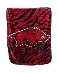 Arkansas Razorbacks Raschel Throw Blanket 50x60 by
