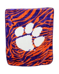 Clemson Tigers Raschel Throw Blanket 50x60 by
