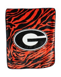 Georiga Bulldogs Raschel Throw Blanket 50x60 by